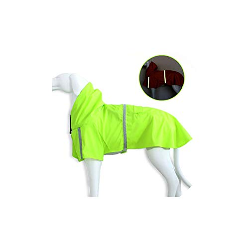 Pet Raincoat,Pet Dog Raincoat for Small Dog Coats Jackets Raincoat for Small Medium Large Dogs Waterproof Clothes,Green,L