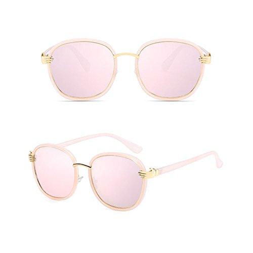 vértigo con de Sombra a Sol Color C4 Redonda Espejo Rayos Ms luz C2 Anti Resistente Driver Personalidad Gafas Metal Cara Ai polarizada los lele UV E6qI61