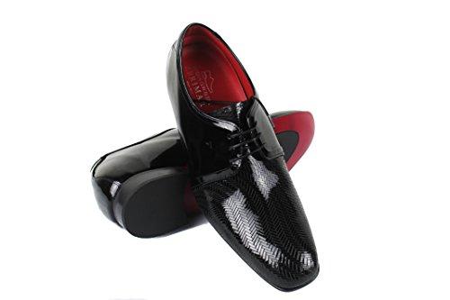 De Cuero En Cuero 7cm De Zapatos Hace Aumentos Con Negro Estilo 40 Calidad Del Tamaño Zerimar De Alta 100 Casual 1qq8nZU