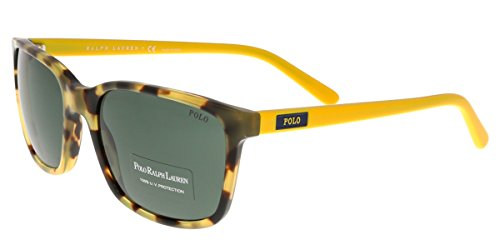 Polo Ralph Lauren Men's 0PH4103 Square Sunglasses, Spotty Havana, 56 - Men Lauren Glasses Ralph