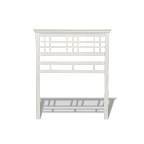 Mission Style Headboard - Fashion Bed Group Avery Wood Headboard Panel with Mission Style Design, Cottage White Finish, Twin