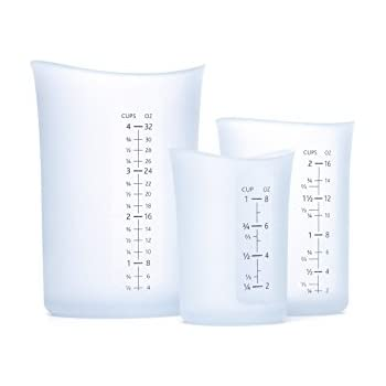 iSi Set of 3 Flexible Measuring Cups - 1, 2 and 4C. Capacity.  Highly Ranked and Recommended
