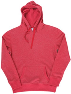 Ladies Glitter French Terry Hooded Sweatshirt, Red, X-Large (Hooded Top Terry)