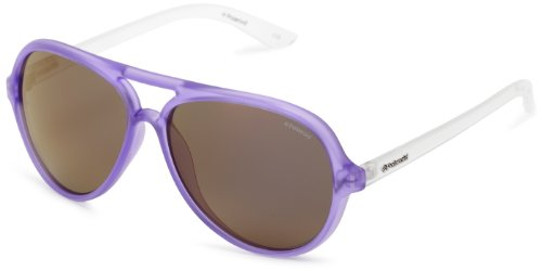 Polaroid Sunglasses P8400S Polarized Wayfarer Sunglasses,Fluorescent Neon Purple,50 mm