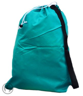 Small Laundry Bag with Drawstring, Carry Strap, Locking Closure, Color: Teal, Size: 22x28 by Laundry Bag Store Online