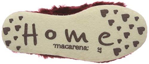 Isasa73 Macarena Rot Longo 41 Eu Pantofole am Donna Burdeos ffdrqz