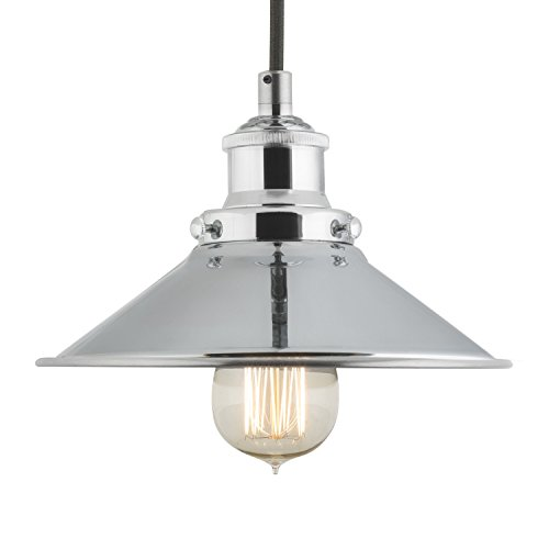 Pendant Lamp One-Light Fixture With Metal Shade Fabric