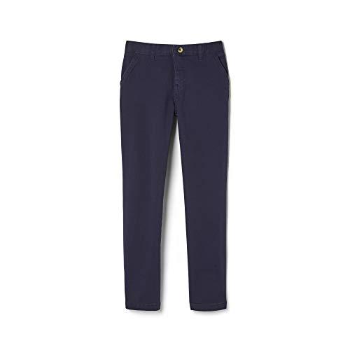 (French Toast Boys' Big Adjustable Waist Stretch Straight Fit Chino Pant (Standard & Husky), Navy, 8)