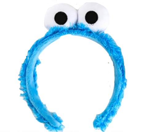 Blue Cookie Lover Monster Fuzzy Costume Headband from Chunks of Charm ()