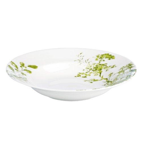 SCALAMANDRE BY LENOX TOILE TALE CHARTREUSE Pasta/rim soup -