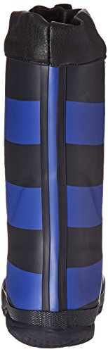 Pictures of Joules Kid's Winter Welly Rain Boot Slate Blue Stripe 8