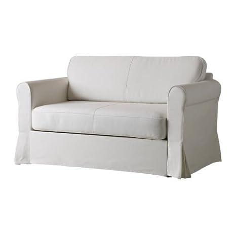 IKEA HAGALUND - cubierta sofá-cama de dos asientos, blanco ...