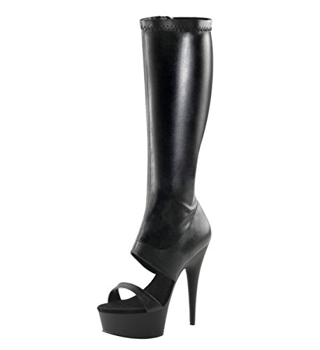 Heels-Perfect - Botas de Material Sintético para mujer Negro - negro