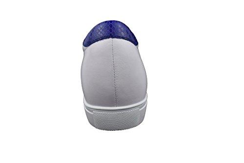 Zerimar con 6 per Uomo di 43 Qualità di Alta Blu Interni Taglia Colore Sportive Marino elevatori in Aumento Bianco Pelle cm Scarpe Realizzata qrCwzr