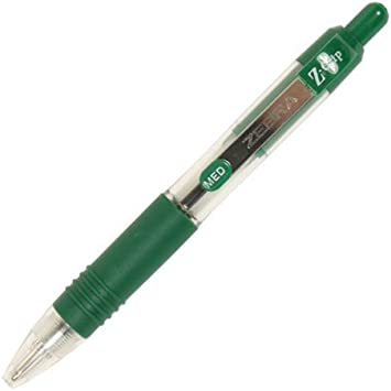 Green Z-Grip Mini Retractable Ballpoint Pen Pack of 12
