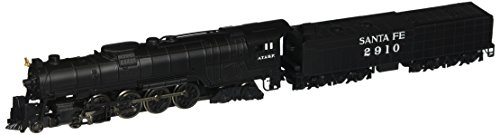 - Bachmann Industries Northern 4-8-4 Santa FE Steam Locomotive with Operating Headlight & 52' Tender (N Scale)
