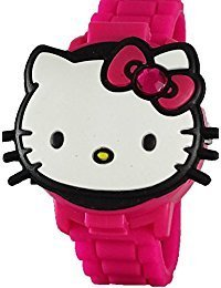 Hello Kitty Girl's 3D Pink Digital Watch with Pop-Up Feature HK4014 by Accutime