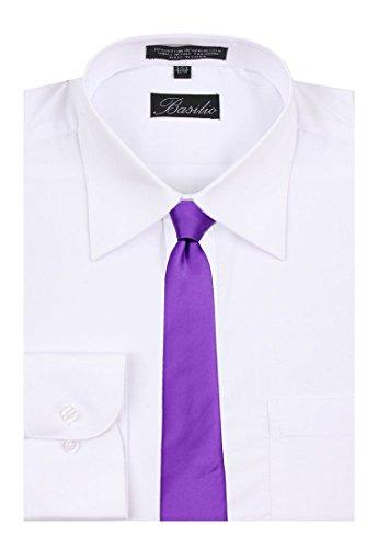 Long Necktie XL Extra Solid Purple Tie Men's Color fAF8qwfxPZ