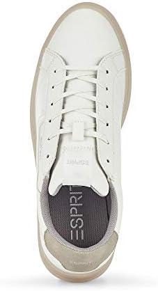 ESPRIT 030EK1W349 040 Michele LU Damen Sneaker Lederimitat Textilausstattung, Groesse 38, weiß