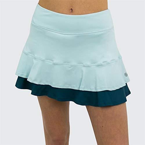 Lija Green Space Center Point Skirt - Starlight Blue/Deep Green - Small