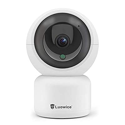 Luowice IP Camera WiFi Wireless Security Camera 1080P Indoor Dome Pet Baby Monitor Pan/Tilt/Zoom 2MP HD Night Vision CCTV Surveillance Camera Motion Detection Remote Visit with Phone/Tablet/PC by Luowice