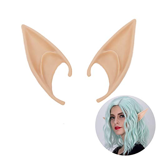 2019 Cosplay Fairy Pixie Elf Ears Soft Pointed Ears Tips Anime Party Dress Up Costume 4.5 x 10