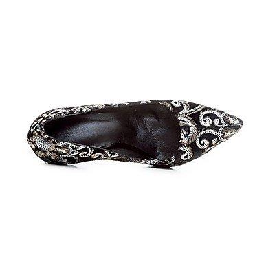 en Basique Femme black Bleu à Talons Eté cm Automne Chaussures Escarpin de Noir Fleur Décontracté Tissu 12 10 Satin à DESY minuit Vin PdqwPX