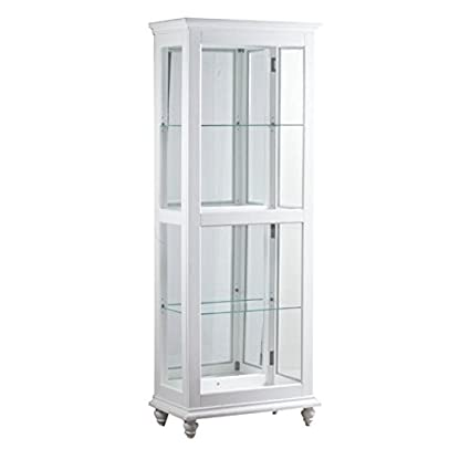 Powell Whitehurst Small Curio Cabinet in White  sc 1 st  Amazon.com & Amazon.com: Powell Whitehurst Small Curio Cabinet in White: Kitchen ...