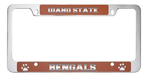 Idaho State University -Metal License Plate Frame-Orange by LXG, Inc.