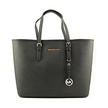 6a1302b02975 Michael Kors Jet Set Women's Travel Tote Handbag Purse - Black ...