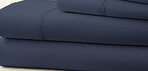 Hotel Comfort Count Deep Pocket 4 Piece Bed Sheet Set Blue - Reviews Mattress Banner