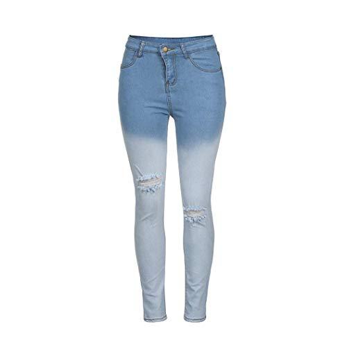 Blanc DGrad LaChe Bleu Pantalon SOMESUN Clair Court Bleu Pour Pantalon Et Crayon Jeans GlissiRe Blanc Pantalon Crayon Jeans Fermeture Bleu DGrad Femme Femme Couleur Pantalon Jeans Jeans BpBznX