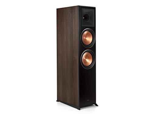 """Klipsch Reference Premiere Dual 8"""" 600-Watt Passive 2-Way Floor Speaker (Each) Walnut 1065796 RP8000F WALNUT"""