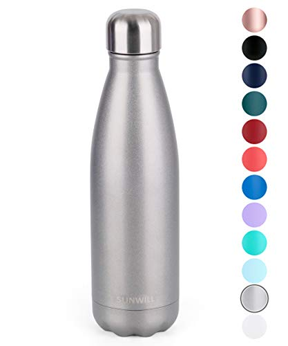 SUNWILL Insulated Stainless Steel Water Bottle Cool Grey