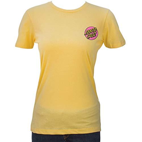 - Santa Cruz Women's Other Dot Fitted Shirts,Medium,Cream