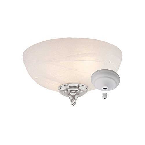 Monte Carlo MC49-L Dome Bowl Light Kit with Brushed Steel and White Finish Bowl Caps, White Faux Alabaster Finish (Dome Accessory Kit)