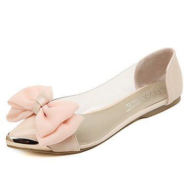 Cómodo y elegante soporte de zapatos de las mujeres pisos primavera verano otoño invierno Casual de látex comodidad plana talón rosa de almendro en otros rosa
