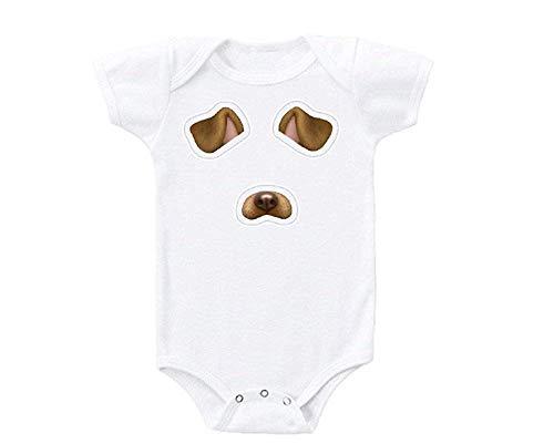 qidushop - Mono para bebe con Filtro Snapchat para Cara de Cachorro Blanco Blanco 9 Mes