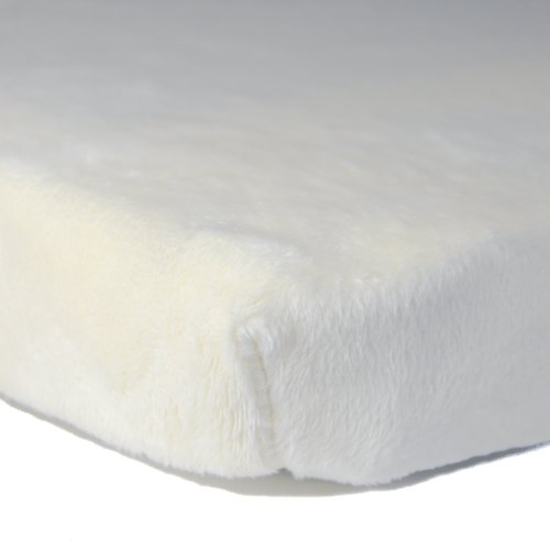 Luxe Basics So Softy Fitted Bassinet Sheet, Ivory