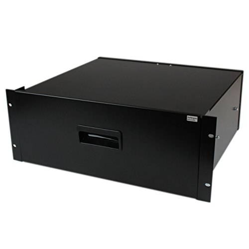 StarTech.com 4U Black Steel Storage Drawer for 19in Racks and Cabinets (4UDRAWER) ()