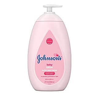 Johnson's Moisturizing Pink Baby Lotion with Coconut Oil, Gentle, Nourishing & Hydrating Baby Body Lotion, Hypoallergenic, Paraben-Free, Sulfate-Free, Dye-Free, Phthalate-Free, 27.1 fl. oz