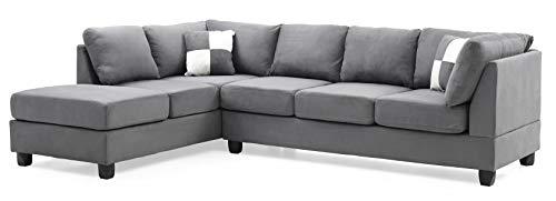 Glory Furniture G633-SC Sectional Sofa, Grey, 2 ()