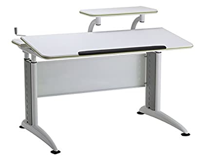 Reo Smart U201cElite Parkeru201d Height And Tilt Adjustable Desk With Shelf, Cord
