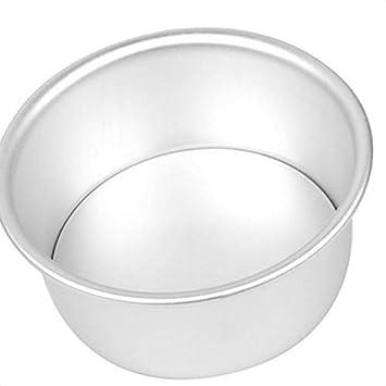 yanana Herramienta para Hornear Pan de aleaciš®n de Aluminio Redondo de la Torta de Gasa de Queso Torta del Molde para Hornear Herramienta de Molde de la ...