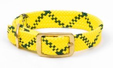 - Digpets ME31122 Double-Braid Collar 1 in. wide Up To 21 in. - Hi-Viz Yellow