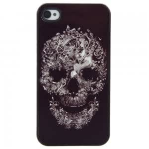 Graceful Protective Case with Butterfly & Skull Pattern for iPhone 4/4S