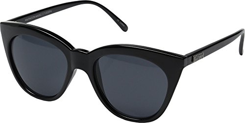 Le Specs Women's Half Moon Magic Sunglasses, Black/Smoke Mono, One ()