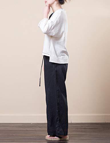 Pants Sport Nero Pantaloni Forma Gli Cascante Comodo Esecuzione 2 Indossare Biancheria Per All'aperto Jogging Casuale Zhhlaixing Classico Sciolto Linen In wqREUxaY