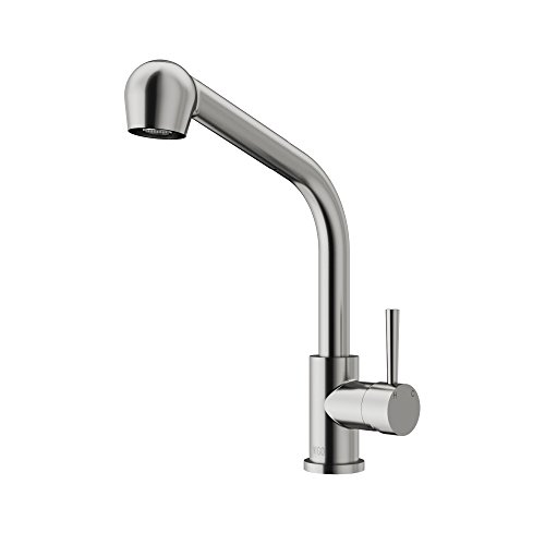 VIGO VG02019ST Avondale 14 Inch Single Handle Pullout Brass Kitchen Sink Faucet, Single Hole Install, 360 Swivel Spout, Premium Seven Layer Plated Stainless Steel Finish