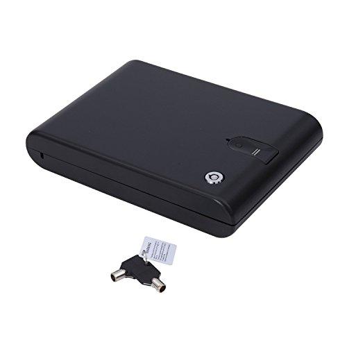 HOMCOM Portable Safe Case with Biometric Fingerprint Lock by HOMCOM